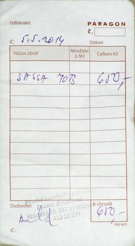 Značková podprsenka Sassa, typ Balconette, 70B
