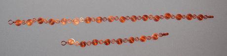 Medený set - náhrdelník a náramok,