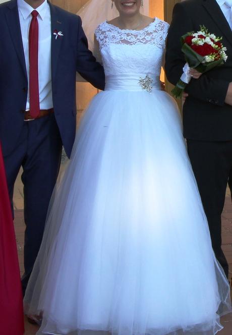 Nádherné svadobné šaty veľ.-36/38, 38