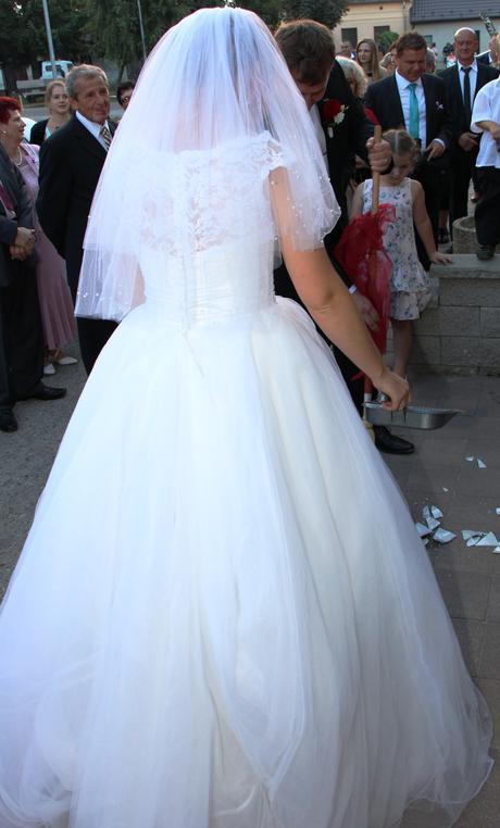 Nádherné svadobné šaty veľ.-38/40, 38