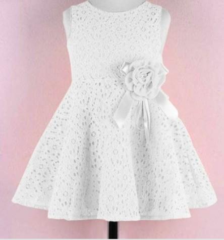 16e7fb74861f Společenské dětské bílé šaty 3