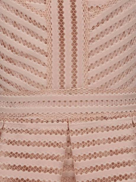 Staroruzove perforovane šaty Vero moda Tara , 40