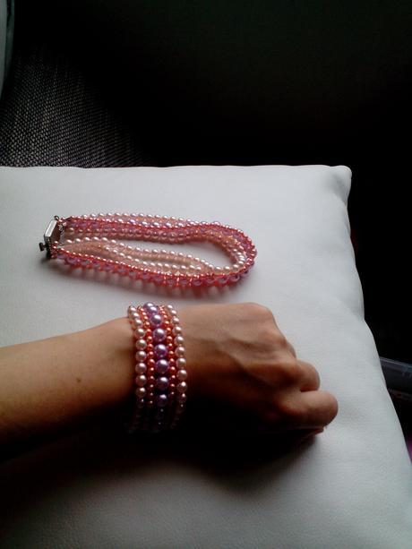 Perličkový náhrdelník/obojek a náramek,