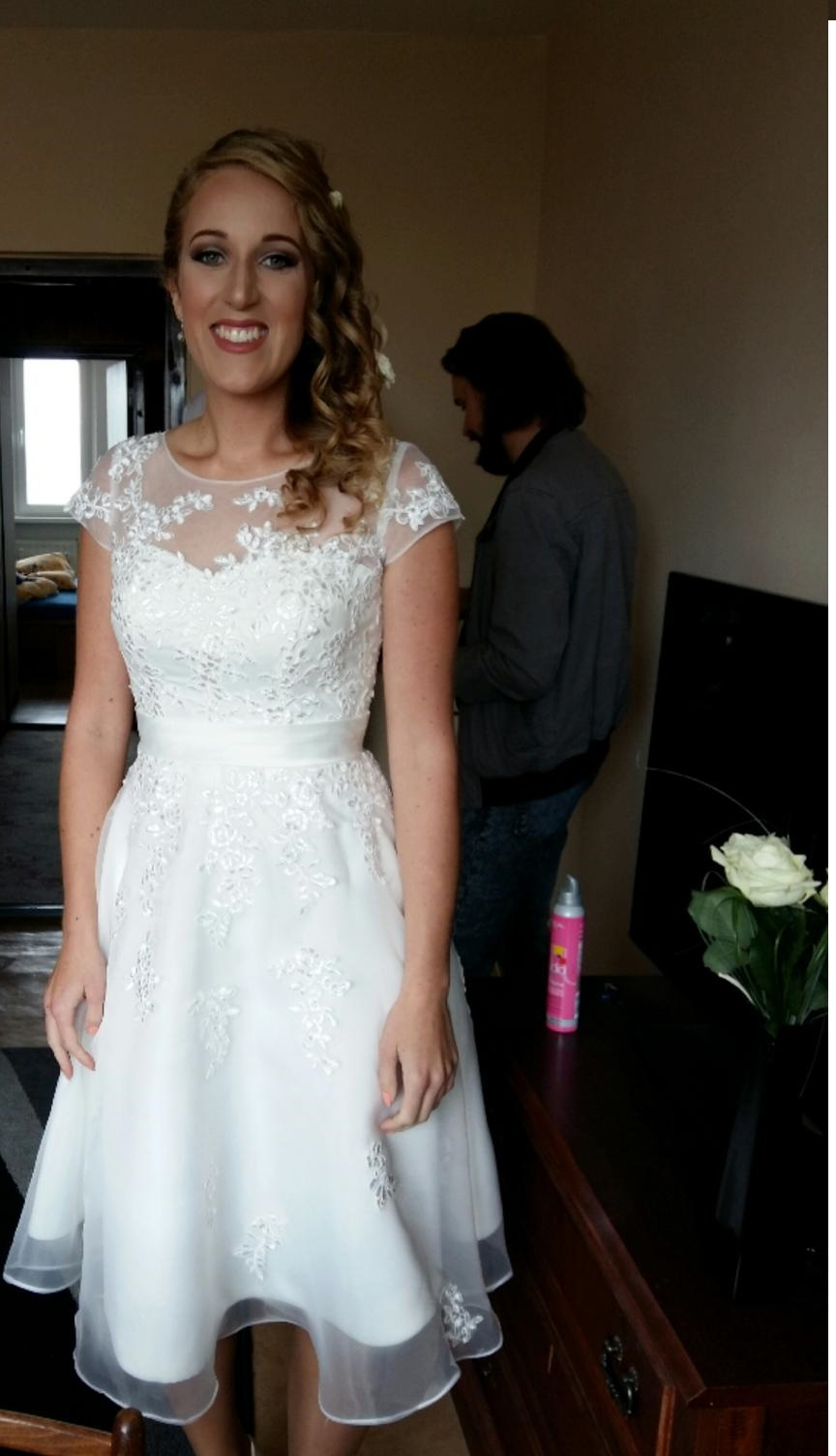 1d4177b88893 Svadobné šaty krátke 36-38