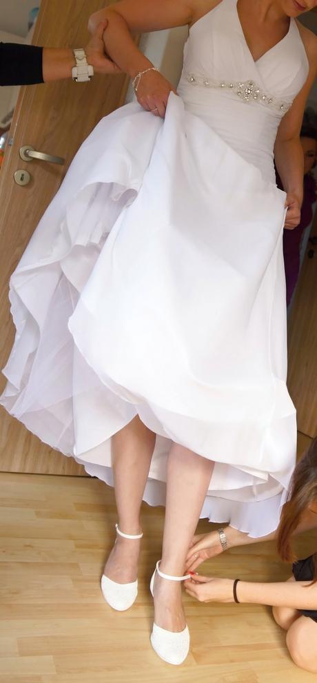 Bílé svatební šaty -vel. 36-38, 36