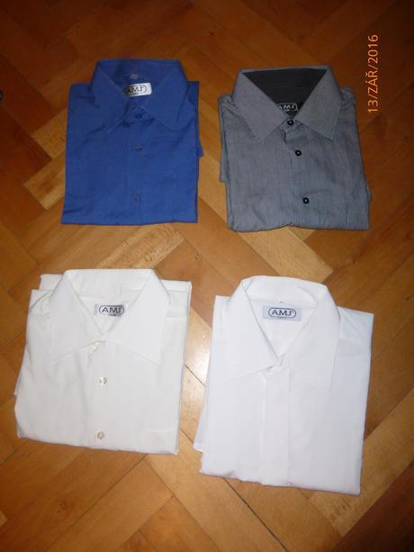 pánské košile s dlouhým rukávem, XL