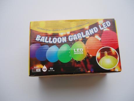 balónková světelná girlanda LED,