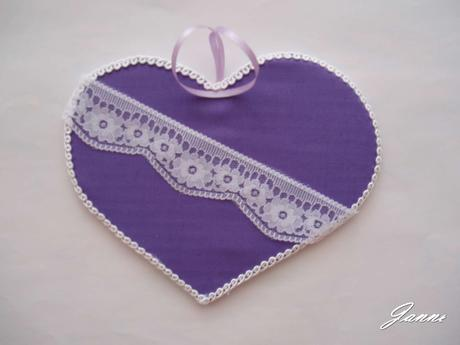 dekorační srdce krajka,