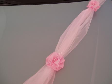 dvojšerpa bílo-růžová s mašlí,