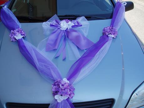 dvojšerpa fialovo bílá s mašlí,