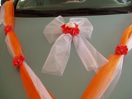 dvojšerpa oranžová-mašle,