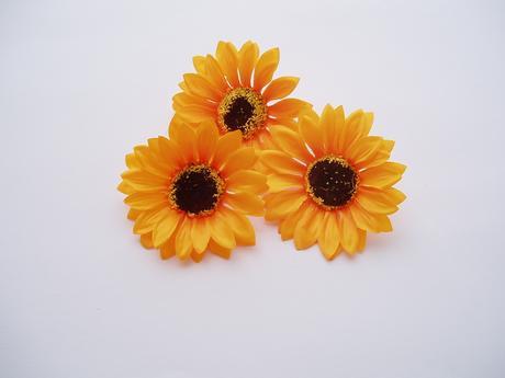 květ slunečnice-textilní,