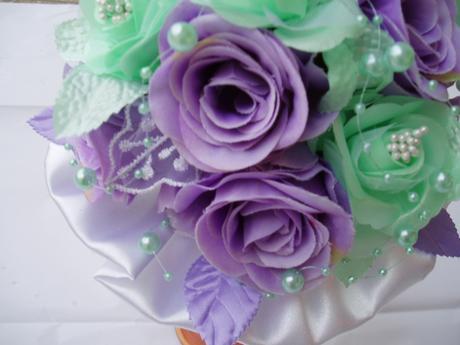 kytička mint+fialová,
