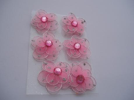 kytička růžová s magnetem,