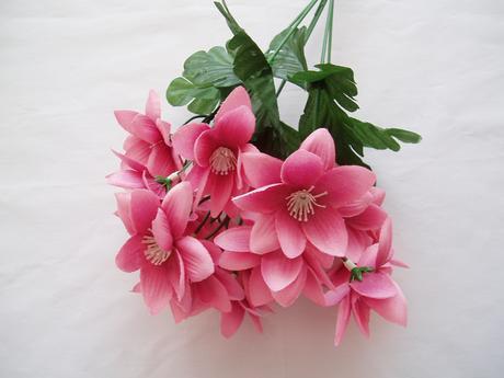 kytička starorůžových květů,