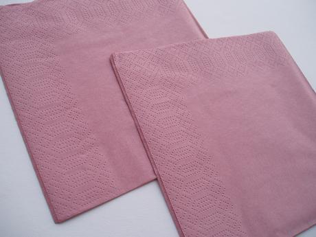 papírové ubrousky starorůžové,