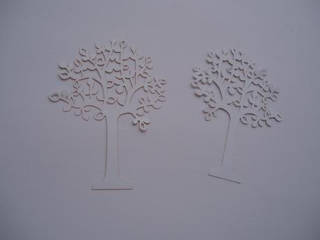 papírový strom,