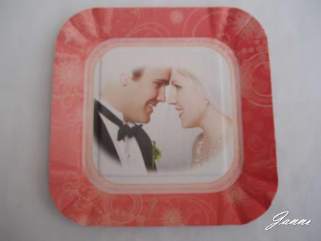 papírový tácek ženich a nevěsta,