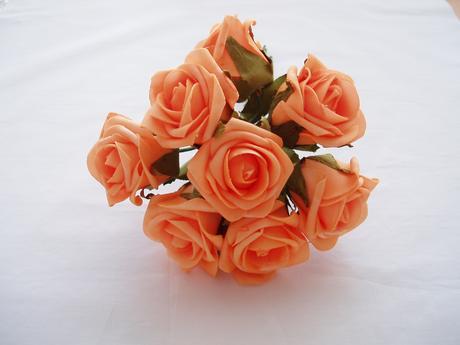 pěnová růže-oranžová,