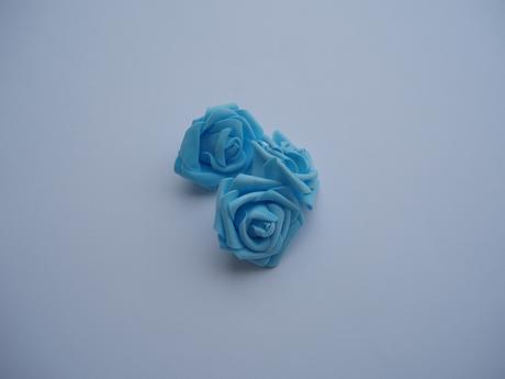 pěnová růže-světle modrá,