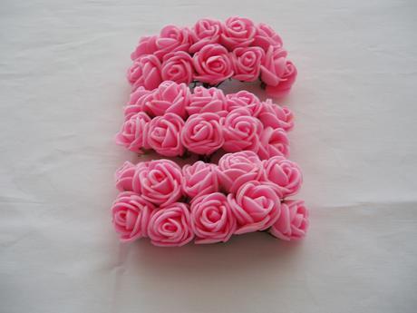 pěnová růžička-růžová světlá,