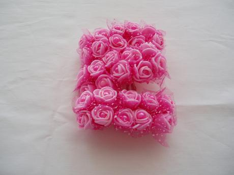 pěnová růžička-tmavě růžová s perličkou,