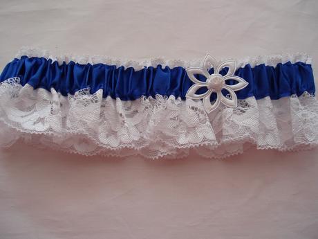 podvazek modrý, 36