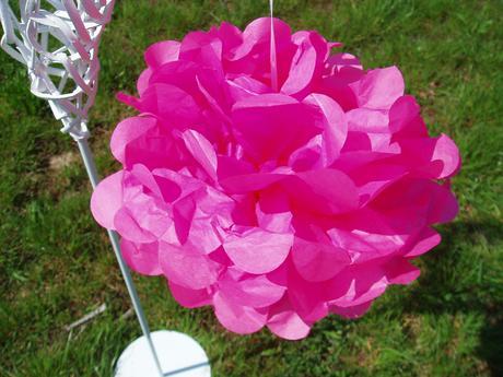 pom poms růžový-25 cm,