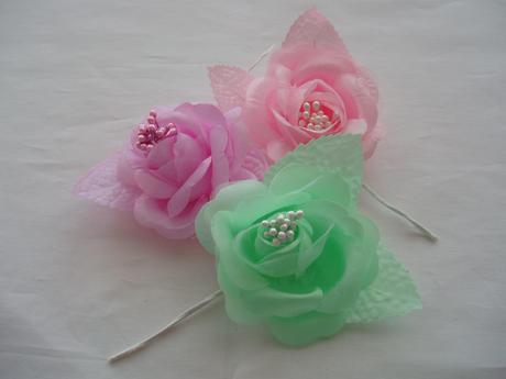 růže-barva mentolová,