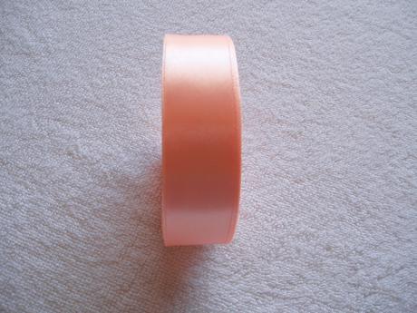 saténová stuha lososová - 2,5 cm,