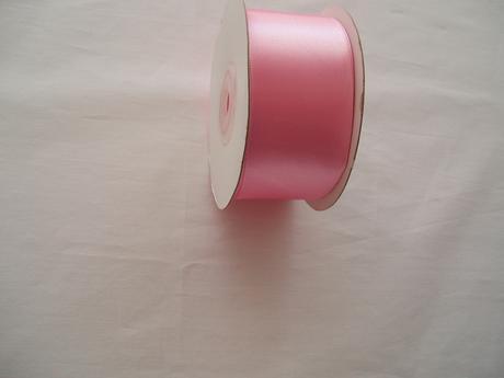 saténová stuha růžová 4 cm,