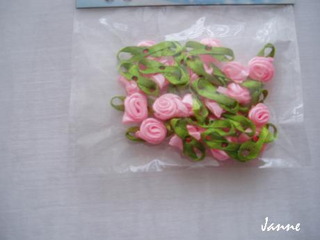 saténové kytičky-růžové,