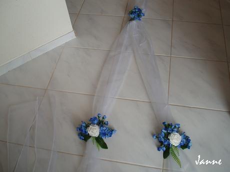 šerpa modro-bílá,