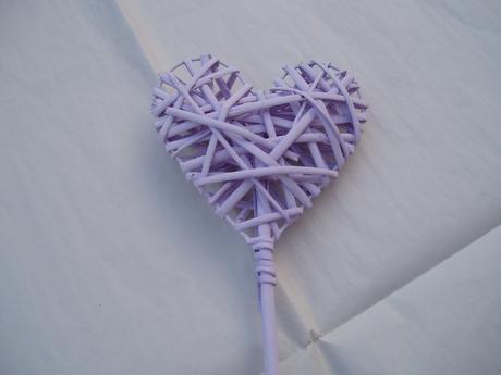 Srdce na tyči-lila,