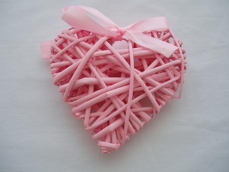 srdce z proutí-růžové,