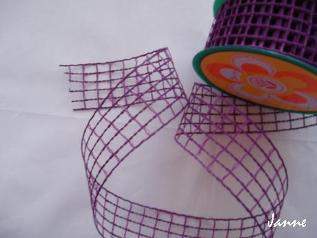 stuha síťka-fialová,