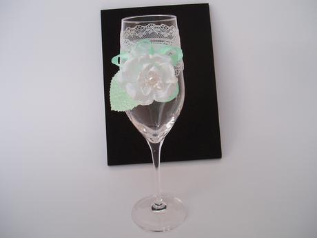 svatební skleničky-mint,