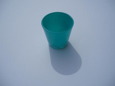 svícen skleněný-tyrkysový,