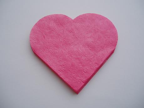 ubrousek srdce-tmavě růžový,