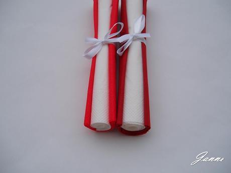 ubrousky červené-bílé,