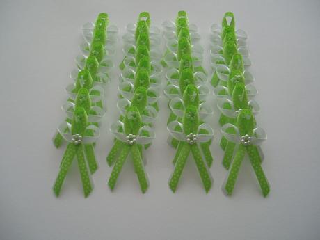 vývazek-zelený puntík,