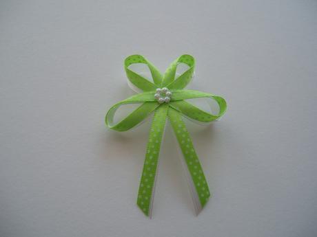 vývazek -zelený puntík,