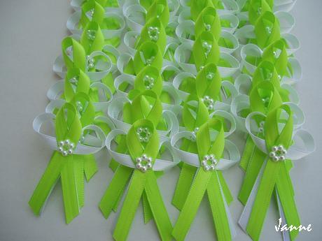 vývazek zelený-s kytičkou,