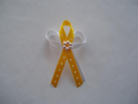 vývazek-žlutý puntík,
