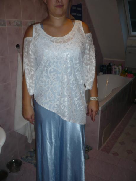 predám krásne  spoločenské šaty, 38