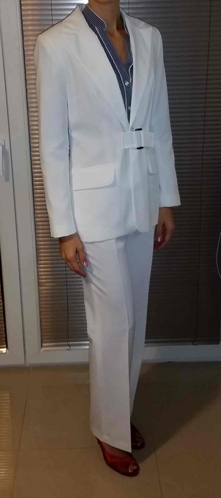 9d8fd127b09b Svadobny kostym nohavicovy (sneho-biely)