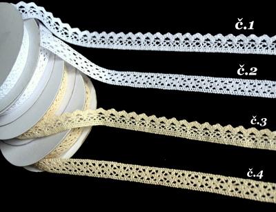 Bavlnená stuha (krajka) 12mm/5m,