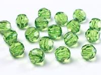 Brúsené korálky - zelené - 10mm,