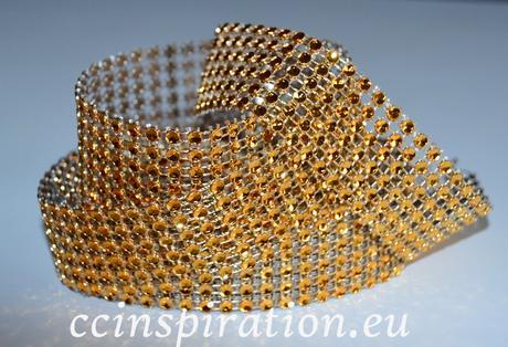Diamantový ( Šrásový ) pás 3cm/5y - červený,