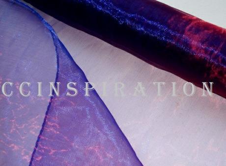 Obšitá organza - fialovomodrá,